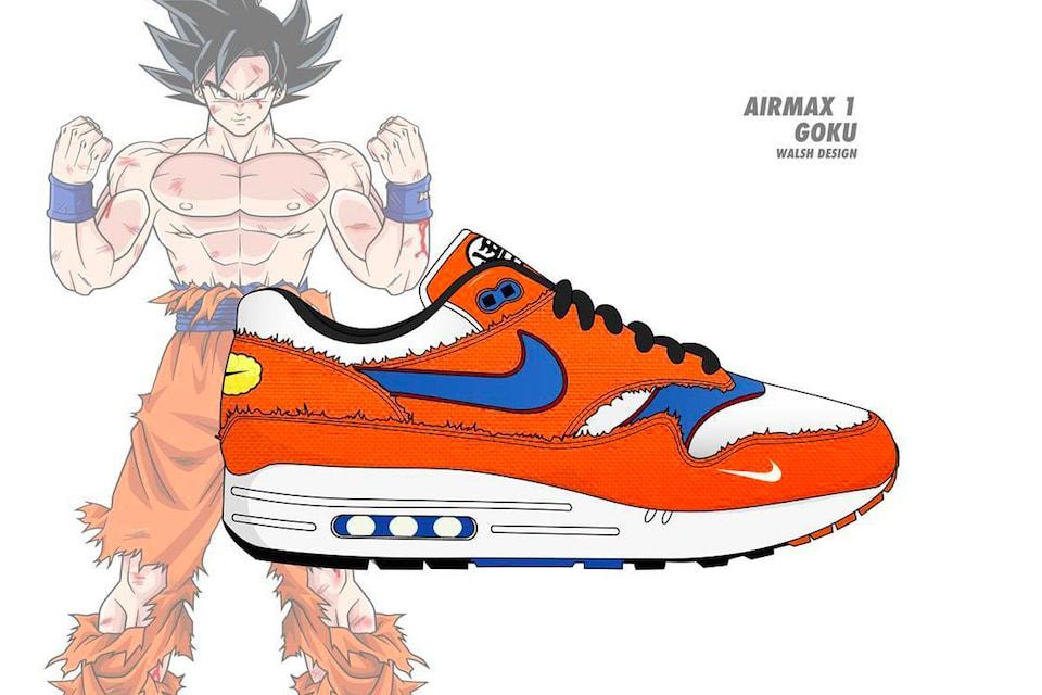 Hoe zou de DragonBall Z collectie eruitzien als deze via Nike uitkwamen