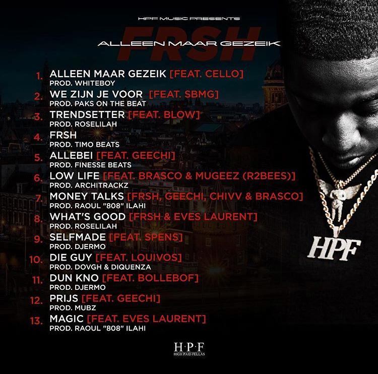"""FRSH dropt tracklist voor zijn EP """"Alleen Maar Gezeik"""""""