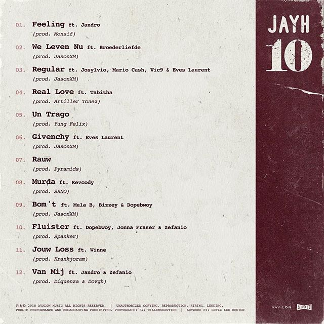 Jayh 10 tracklist